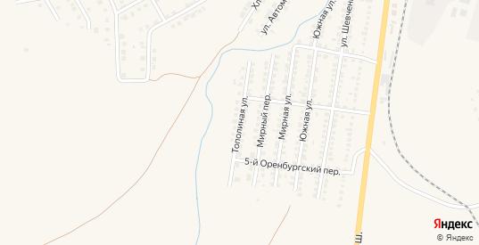 Тополиная улица в Бугуруслане с номерами домов на карте. Спутник и схема онлайн