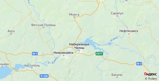 Карта Менделеевского района республики Татарстан с городами и населенными пунктами