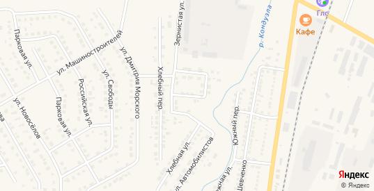 Зернистый переулок в Бугуруслане с номерами домов на карте. Спутник и схема онлайн