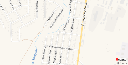 Южная улица в Бугуруслане с номерами домов на карте. Спутник и схема онлайн