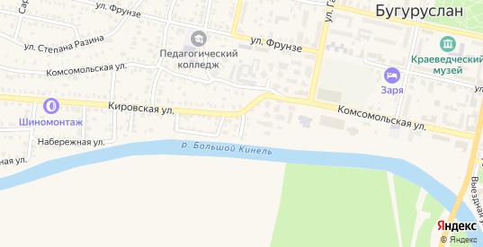 Больничный переулок в Бугуруслане с номерами домов на карте. Спутник и схема онлайн