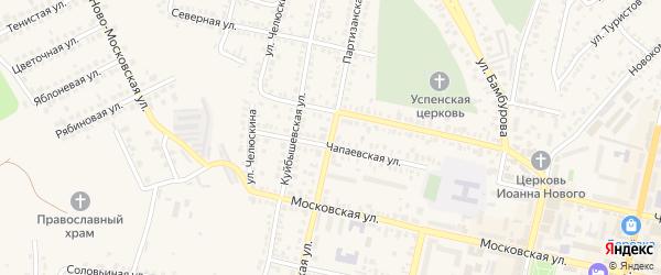 Партизанская улица на карте территории 1-Й квартала с номерами домов