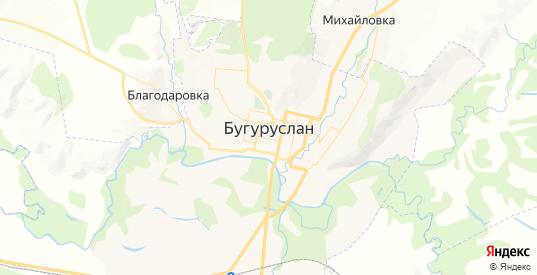 Карта Бугуруслана с улицами и домами подробная. Показать со спутника номера домов онлайн