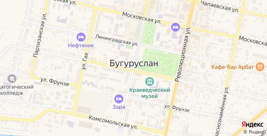 1-й Авиационный переулок в Бугуруслане с номерами домов на карте. Спутник и схема онлайн
