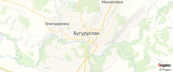 Карта Бугуруслана с районами, улицами и номерами домов