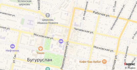 Революционная улица в Бугуруслане с номерами домов на карте. Спутник и схема онлайн