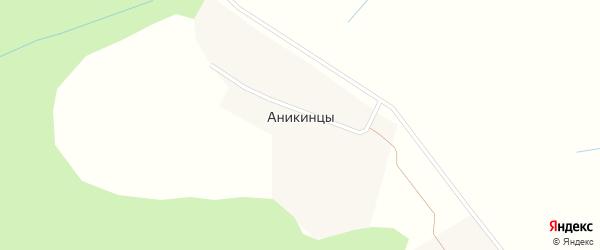 Березовая улица на карте деревни Аникинцы Кировской области с номерами домов