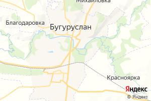 Карта г. Бугуруслан Оренбургская область