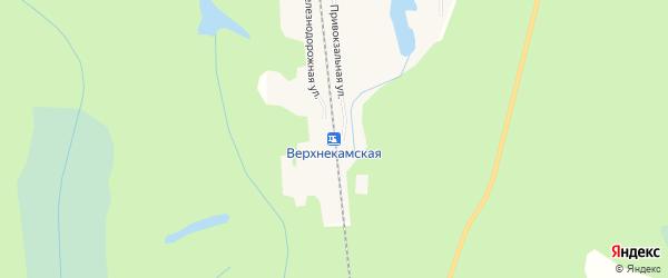 Карта Верхнекамской станции в Кировской области с улицами и номерами домов