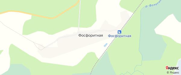Карта поселка Фосфоритной в Кировской области с улицами и номерами домов