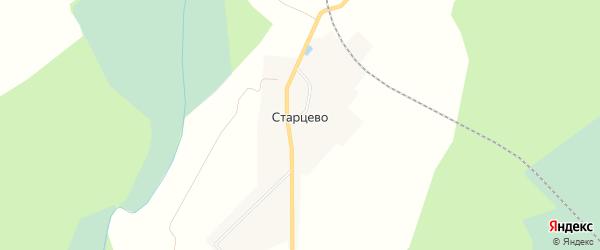 Карта поселка Старцево в Кировской области с улицами и номерами домов