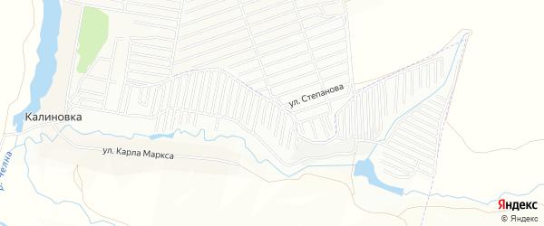 Карта садового некоммерческого товарищества Весны-1 в Татарстане с улицами и номерами домов