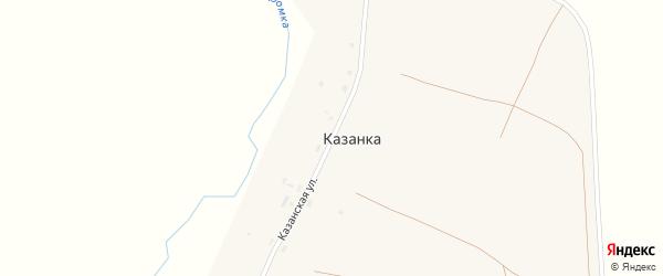 Казанская улица на карте села Казанки Оренбургской области с номерами домов