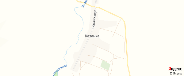 Карта села Казанки в Оренбургской области с улицами и номерами домов