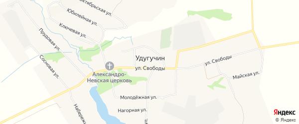Карта села Удугучина в Удмуртии с улицами и номерами домов