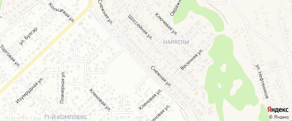 Снежная улица на карте территории СНТ СН Байлык Татарстана с номерами домов