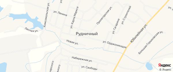 Карта Рудничного поселка в Кировской области с улицами и номерами домов