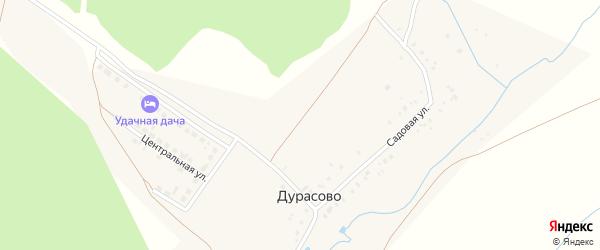 Километр 19 ж/д на карте села Дурасово Татарстана с номерами домов