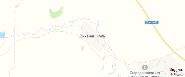Карта поселка Зиканни Куля в Татарстане с улицами и номерами домов