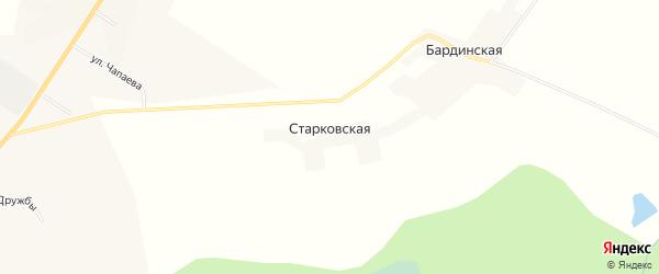Карта Старковской деревни в Кировской области с улицами и номерами домов