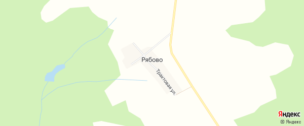 Карта деревни Рябово в Удмуртии с улицами и номерами домов