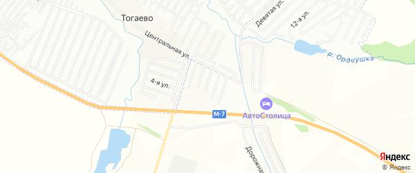 Карта садового некоммерческого товарищества Яблочка в Татарстане с улицами и номерами домов