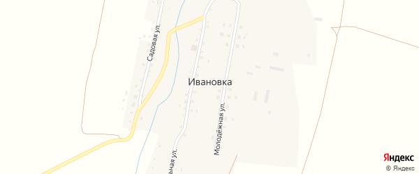 Центральная улица на карте села Ивановки Оренбургской области с номерами домов