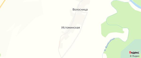 Карта Истоминской деревни в Кировской области с улицами и номерами домов