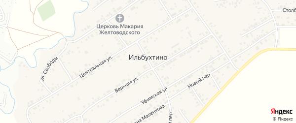 Абрикосовая улица на карте села Ильбухтино Татарстана с номерами домов