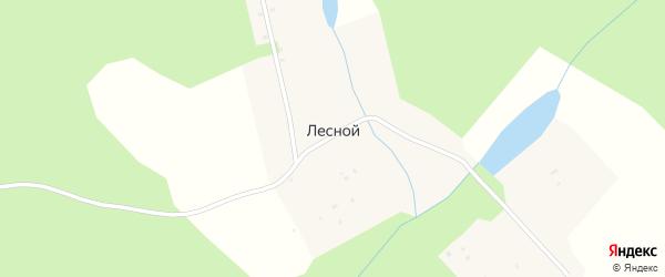 Луговая улица на карте деревни Лесного Удмуртии с номерами домов