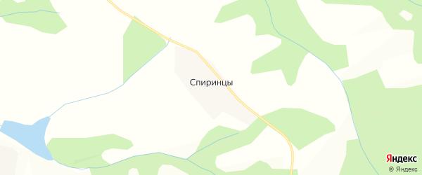 Карта деревни Спиринцы в Кировской области с улицами и номерами домов