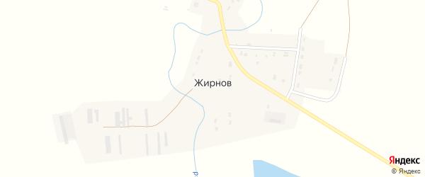 Высокая улица на карте поселка Жирнова Оренбургской области с номерами домов