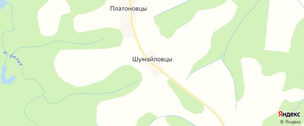 Карта деревни Шумайловцы в Кировской области с улицами и номерами домов