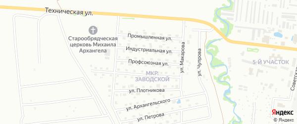 Профсоюзная улица на карте Глазова с номерами домов