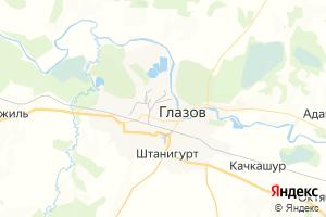Карта г. Глазов Удмуртская Республика