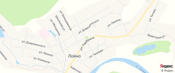 Карта села Лойно в Кировской области с улицами и номерами домов