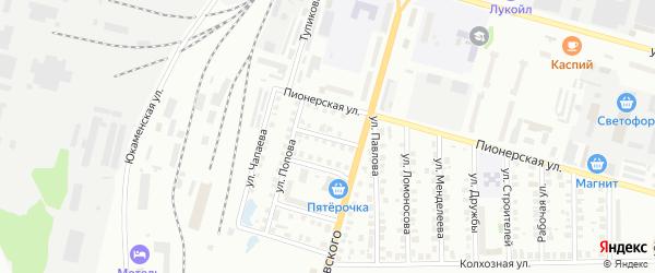 Степной переулок на карте Глазова с номерами домов