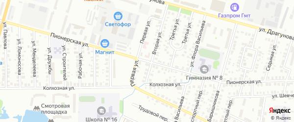 Пионерская улица на карте Глазова с номерами домов