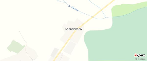 Карта деревни Бельтюковы в Кировской области с улицами и номерами домов