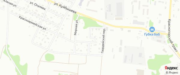 Гвардейский переулок на карте Глазова с номерами домов
