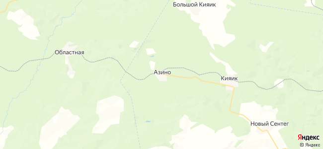 Азино на карте