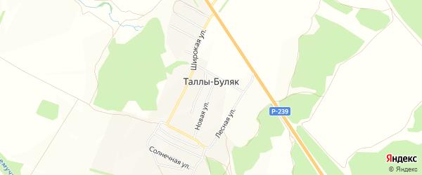 Карта деревни Таллы-Буляк в Татарстане с улицами и номерами домов