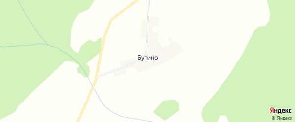 Карта деревни Бутино в Кировской области с улицами и номерами домов