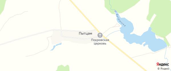 Карта деревни Пытцам в Удмуртии с улицами и номерами домов