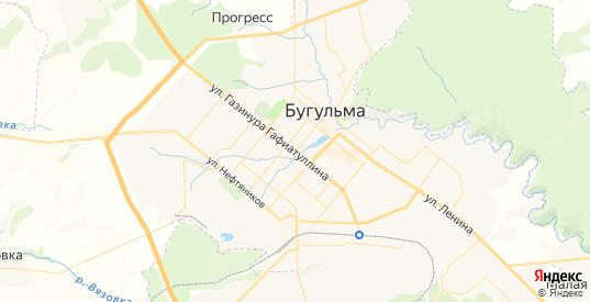 Карта Бугульмы с улицами и домами подробная. Показать со спутника номера домов онлайн