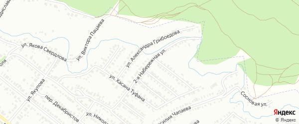 Набережная 2-я улица на карте Бугульмы с номерами домов
