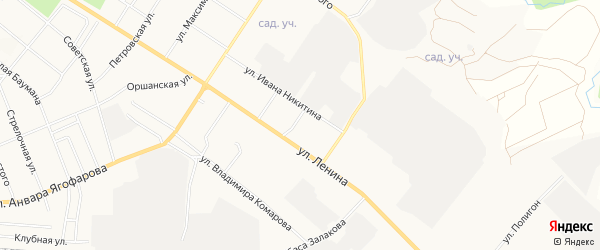 Мех мастерская территория на карте Бугульминского района Татарстана с номерами домов