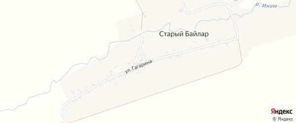 Улица Гагарина на карте деревни Старого Байлара Татарстана с номерами домов