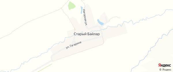 Карта деревни Старого Байлара в Татарстане с улицами и номерами домов