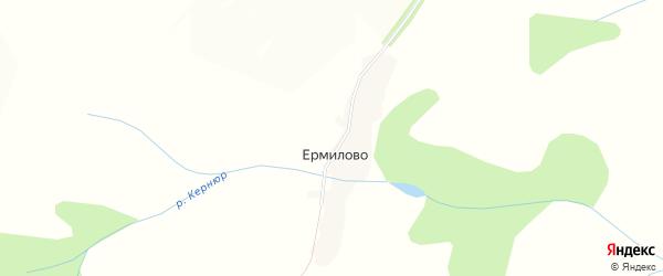 Карта деревни Ермилово в Удмуртии с улицами и номерами домов